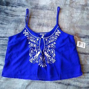 cobalt blue crop tank